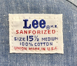 Deadstock 60's Lee Chambray shirt
