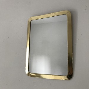 brass wall mirror  rectangle 33cm