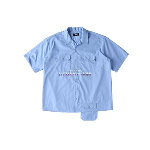 CYBER PUNK work shirt / BLUE