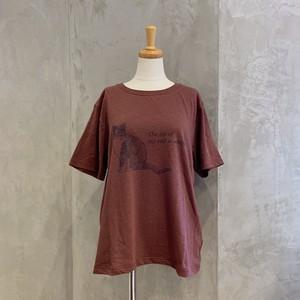 NOMBRE IMPAIR/キャットプリントTシャツ