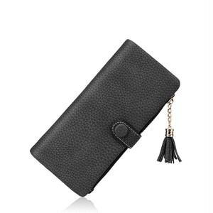Wallet Long Tassel Clutch Zipper Wallet Multi Card Purse ロング タッセル 財布 パスケース (RO99-0004994)