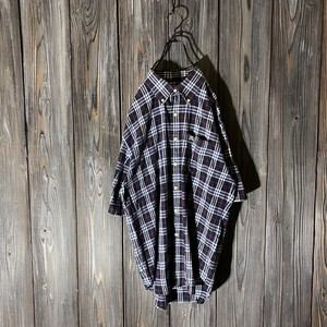 [Burberry]navy nova check shirt