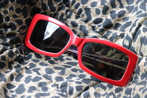 Miu Miu red sunglasses