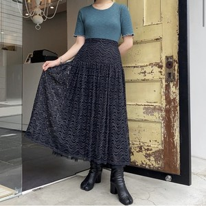 vintage black lace skirt