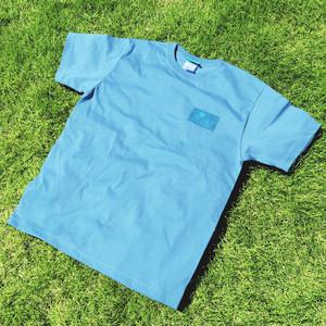 ONJUKU  BEACH  バッグデザインTシャツ スレートブルー