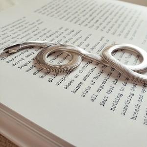 【送料無料】 silver925 Wide snake necklaces (ワイドスネークネックレス)