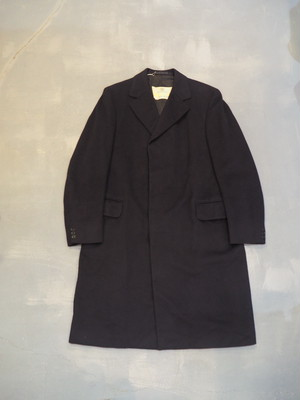 Aquascutum Wool Cashmere Chesterfield Coat / Made in England [L-208]