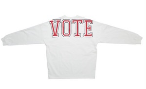 VOTE BIG LOGO L/S TEE - WHITE