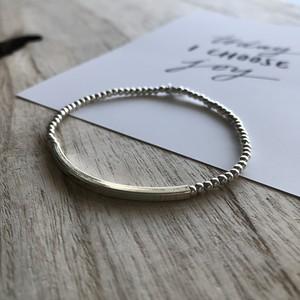 SMILE BAR bracelet  / silver