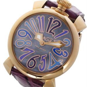 ガガミラノ GAGA MILANO マニュアーレ 40mm クオーツ ユニセックス 腕時計 5021.9 ブルーパール  ブルー