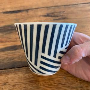 暮縞さんのしましまフリーカップ(黒雨)