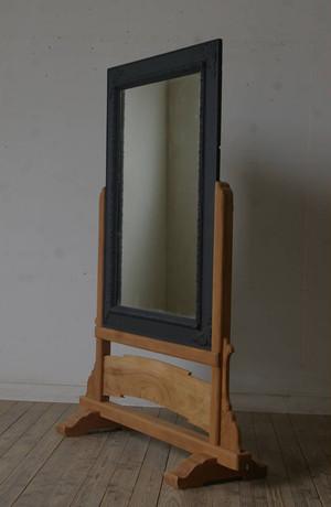 大正期 台付き古手の大きな鏡 YZ1639
