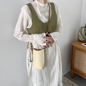 stretch rib knit bustier/olive