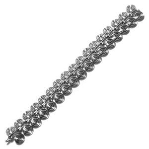 Vintage Sterling Silver Mexican Spiral Chain Link Bracelet