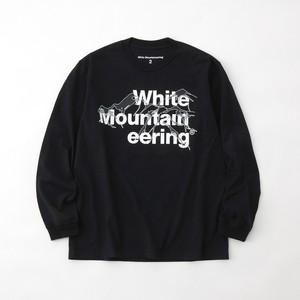 LOGO & MOUNTAIN L/S T-SHIRT - BLACK