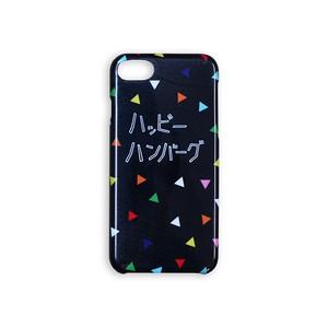【セール価格】ハッピーハンバーグ iPhoneケース ブラック