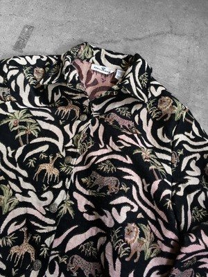 animal patterned gobelin  jacket