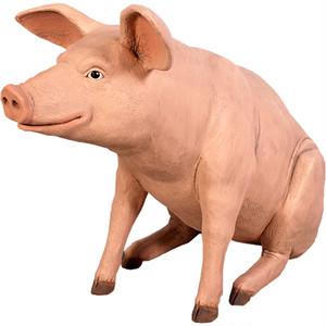 ゆかいな豚さんBR FRPアニマルオブジェ fr020505BR
