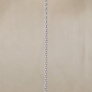 シルバー925 ネックレスチェーン 47㎝ あずきチェーン