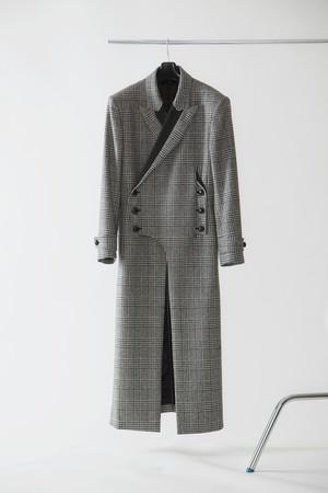 【FW20 先行受注】 morning coat 〈glen check / black / white〉