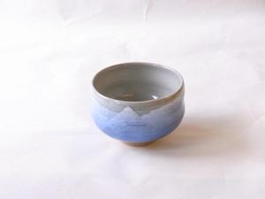 九谷焼 青銀彩 抹茶碗