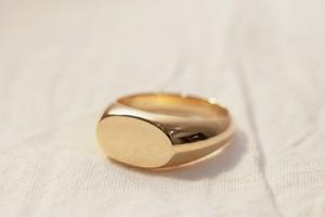 【即納】3号 真鍮製(brass)Signet-ring(Antique oval)
