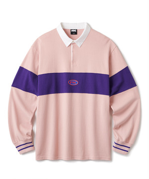 FTC / PANEL RUGBY SHIRT -PINK-