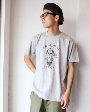 コラボレーションTシャツ  Honky Tonk  weac (ハンキー トンク  ウィーク) / SAMURAI JORGE(サムライジョージ)グレー
