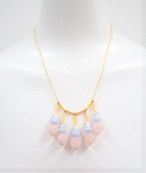 天然石 パステル× ゴールド ネックレス