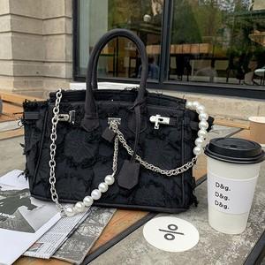 pearl chain design bag