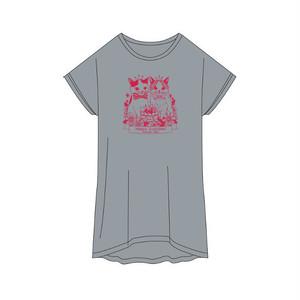 バニちゃん&にーにくんTシャツ<ヘザーグレー>フリーサイズ