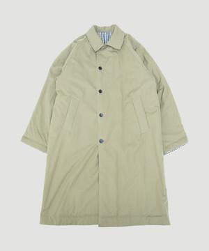 UNDECORATED Gun-Club Check Reversible Coat  White Beige UDF19505