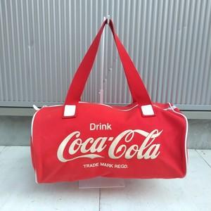 【80s】コカコーラCoca-Cola/ビンテージ/ヴィンテージ/ドラムバッグ/赤/