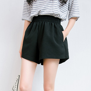 【ボトムス】ハイウエストギャザー飾りファッション韓国系ショートパンツ22163200