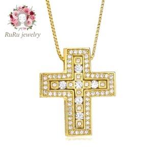 s925 double cross(necklace)