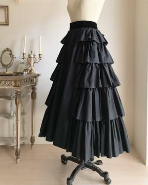 【12月22日まで】バッスル風ティアードスカート【予約商品】