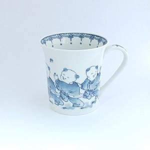 唐子遊図 フリーマグカップ