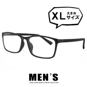 メガネ メンズ ビックサイズ XLサイズ 5616-1 ウェリントン 超軽量 ウルテム 眼鏡 大きめ 大きい 黒縁 venus×2