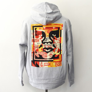 OBEY 3 FACE COLLAGE HOODIE (GREY)