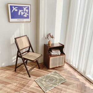 rattan holding chair / ラタン 折り畳み式 チェアー 椅子 韓国 北欧