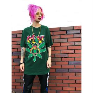 ✝MADE IN USA✝ vintage RAGGAEプリントTシャツ sizeM 緑/グリーン レゲエ