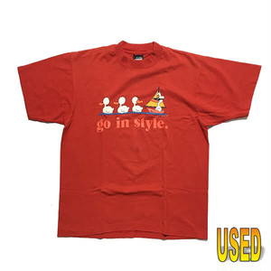 USED TEE ユーズド Tシャツ 『SCREEN STARS』90年代 MADE in USA  L【pru0069-red】