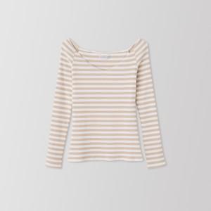SCARLETTE LONG SLEEVE (beige stripe) TNH19100-21
