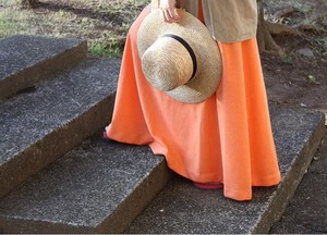 Sherbet Orange Maxi Skirt