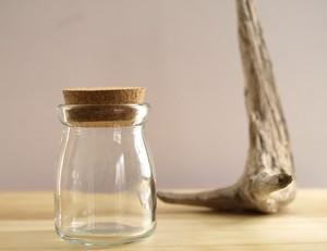 【ガラス容器】ヨーグルト瓶 コルク栓付