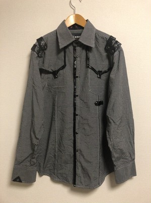 mid〜late2000's goth western punk shirt