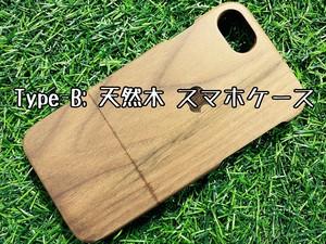 Type-B Pattern:フラワー スマホケース 木製 天然木 チーク材 おしゃれ iPhone android エスニック アジア タイ 一点物 個性 ウッド 男女兼用 ユニバーサルデザイン