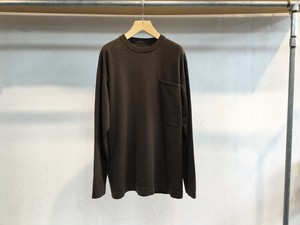 "crepuscule "" Pocket knit L/S "" Brown"