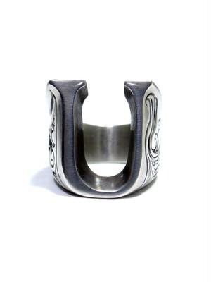 alphabet ring#U (silver925) - アルファベットモチーフ リングU-