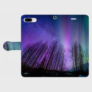 (iPhone8Plus/7Plus サイズ)手帳タイプ:オーロラ(KAGAYA)
